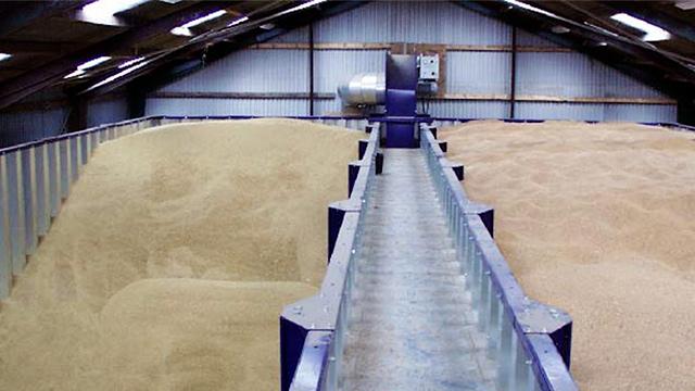 хранение зерна: охлаждение зерна